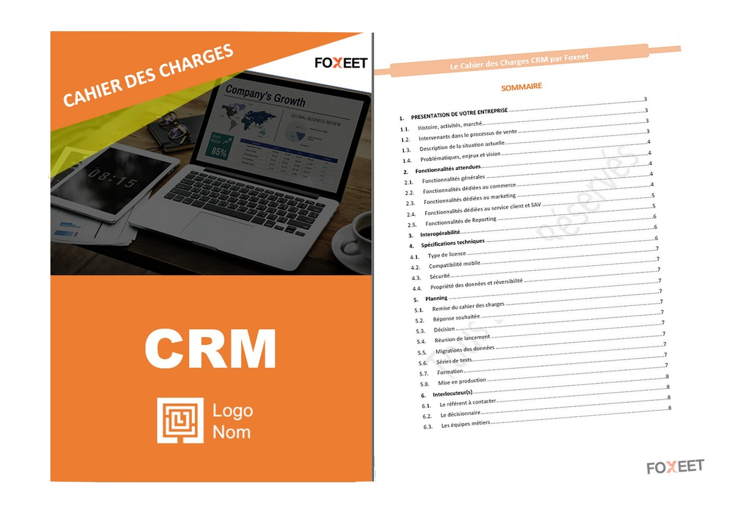 exemple cahier des charges CRM