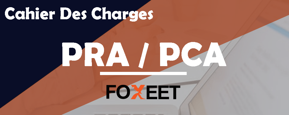 cahier des charges PRA PCA